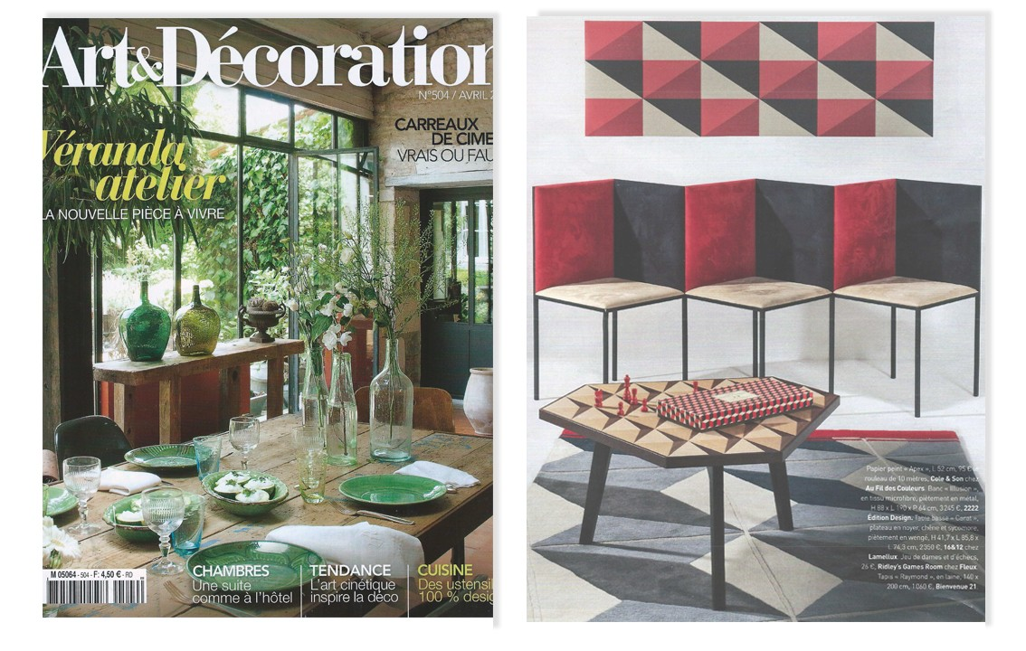 Presse 16 12 design curiosit s for Art et decoration avril 2016